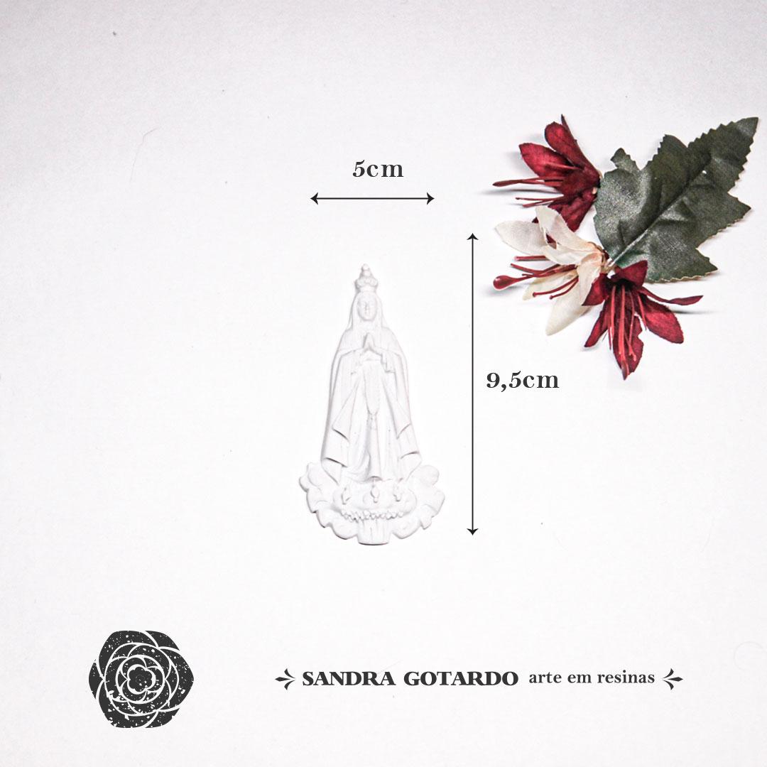 Aplique Resina Nossa Senhora de Fatima-ES058-Sandra Gotardo
