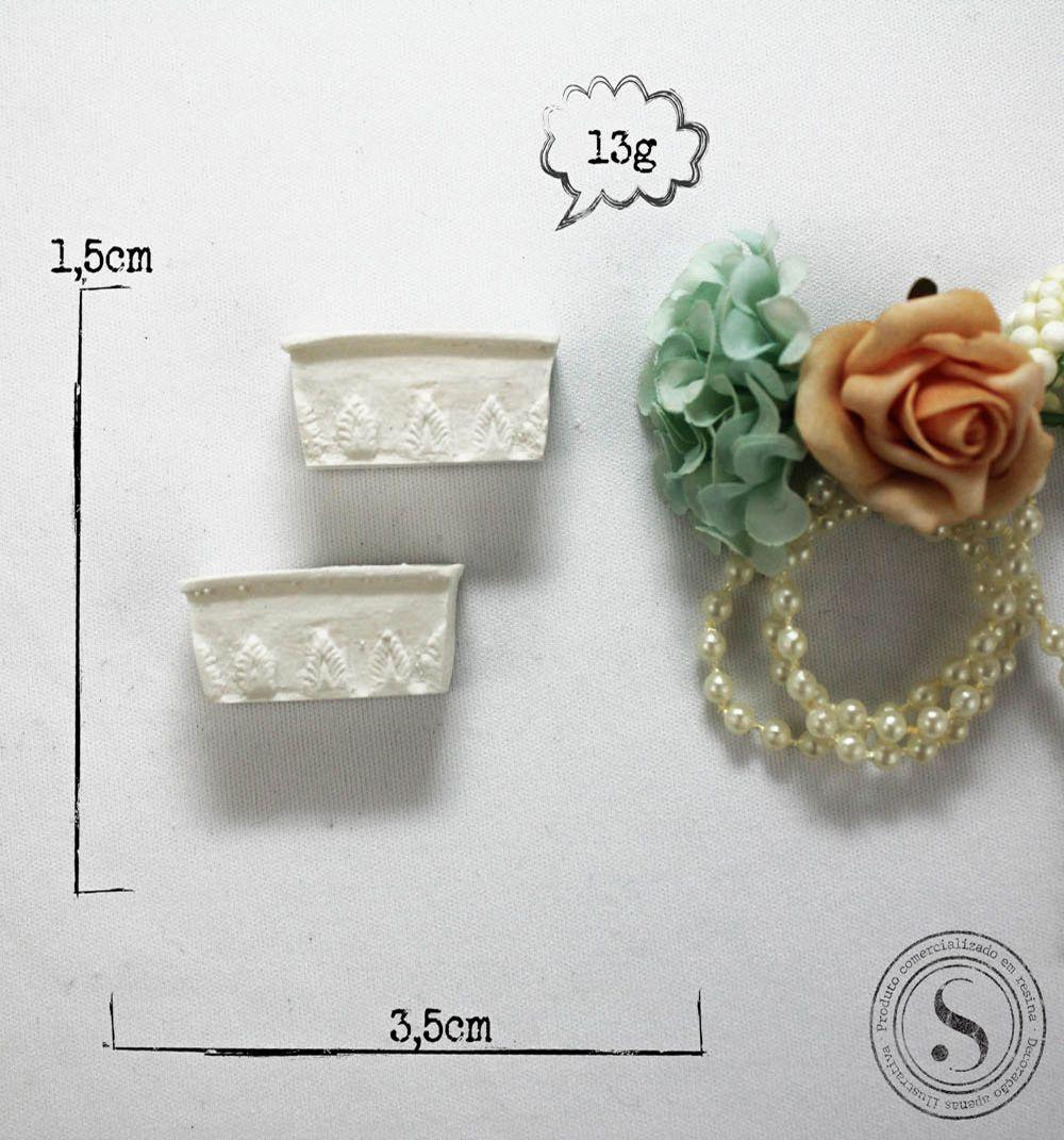 Aplique Resina Par de Vasos - BP023 - Sandra Gotardo