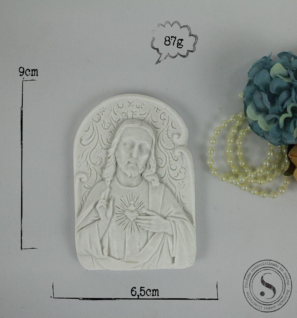 Aplique Resina Placa Jesus - ES033 - Sandra Gotardo