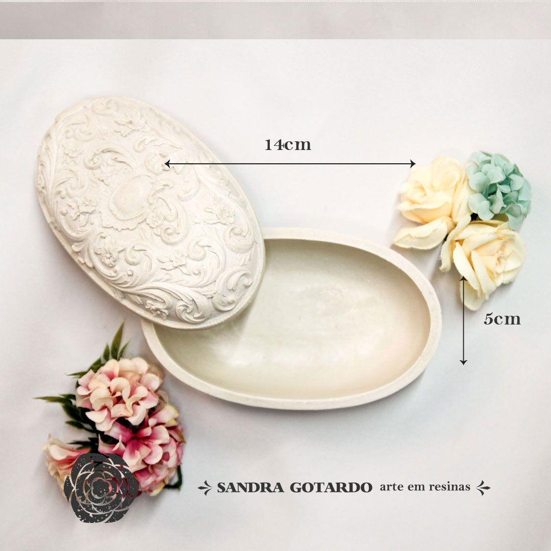 Aplique Resina Porta jóias G 5x14x7 - resina AI  048 - Sandra Gotardo