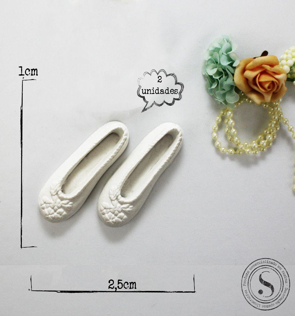 Aplique Resina Sapato Menina - SP012 - Sandra Gotardo