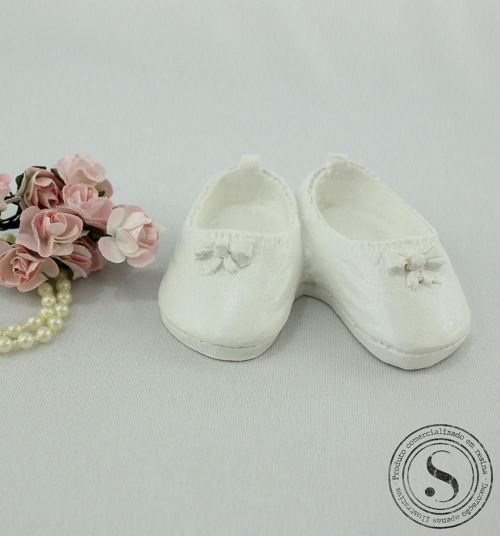 Aplique Resina Sapato  P Lacinho - SP005 - Sandra Gotardo