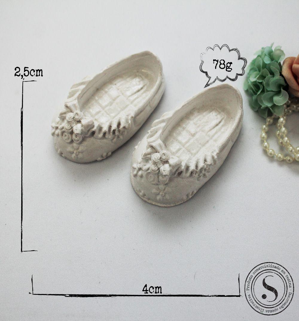 Aplique Resina Sapatos Menina - SP011 - Sandra Gotardo