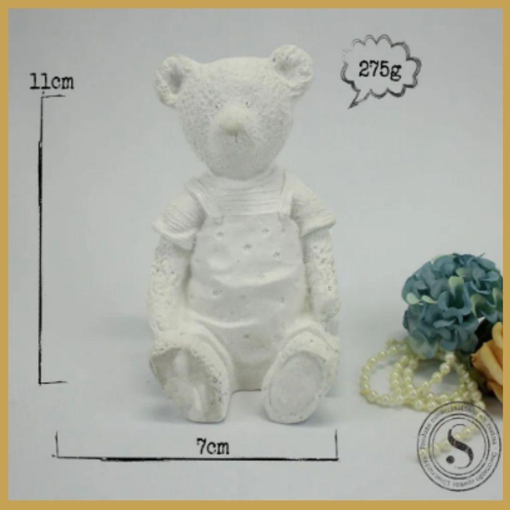 Aplique Resina Urso 2d -UR009-Sandra Gotardo