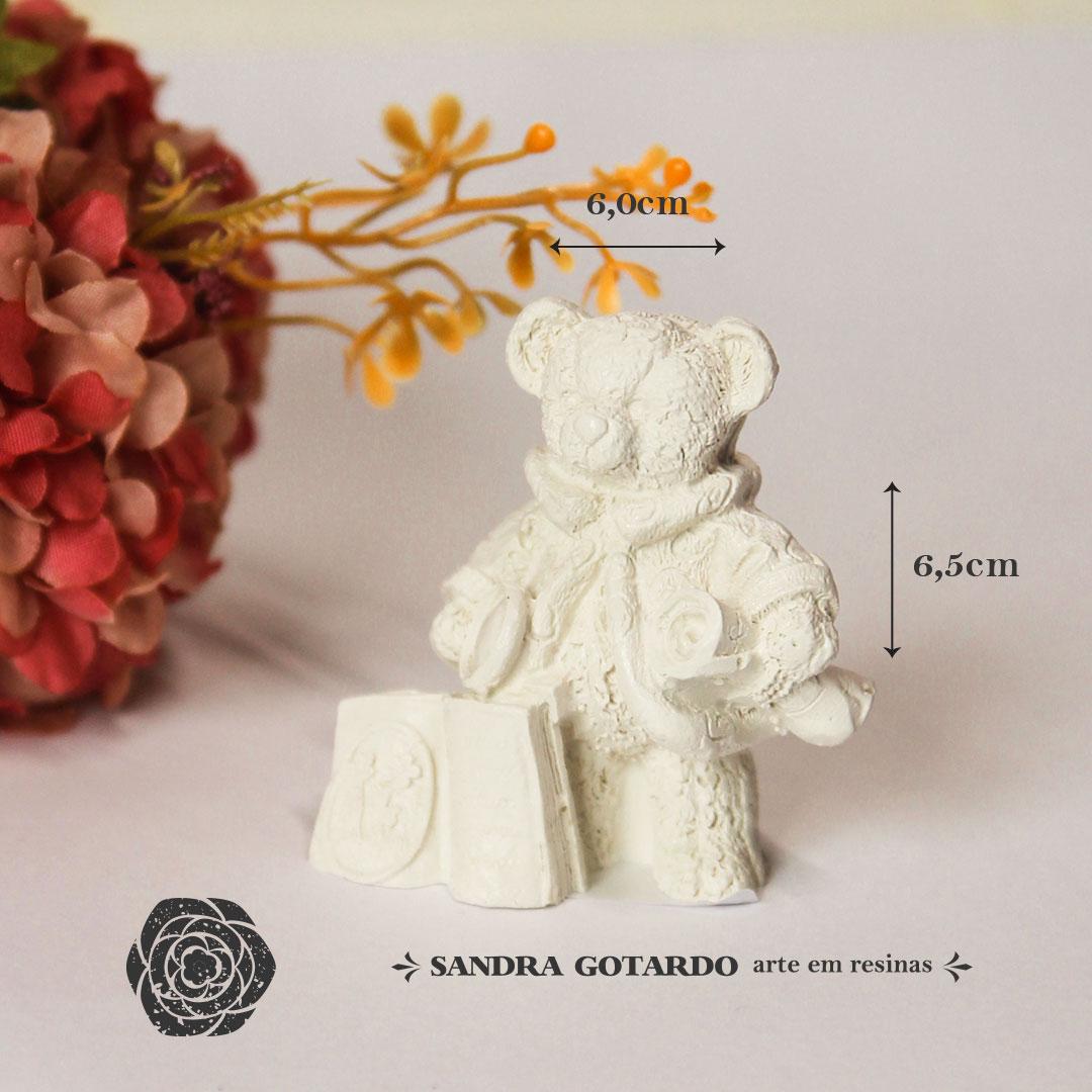 Aplique Resina Urso - UR014 - Sandra Gotardo