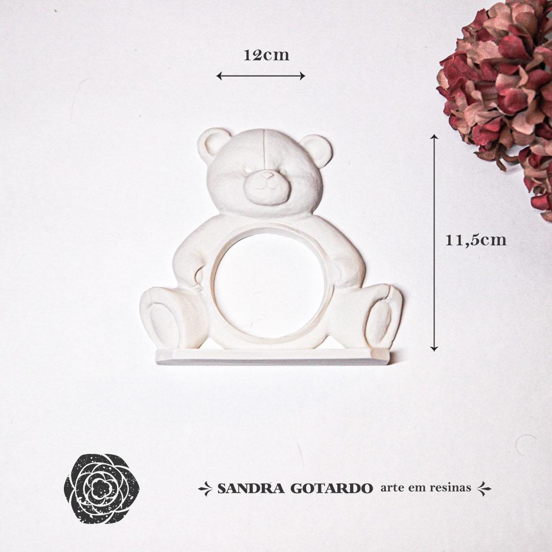 Aplique Resina Urso - UR025 - Sandra Gotardo