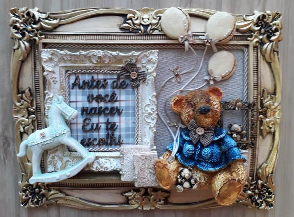 Aplique Resina Urso - UR 010 - Sandra Gotardo