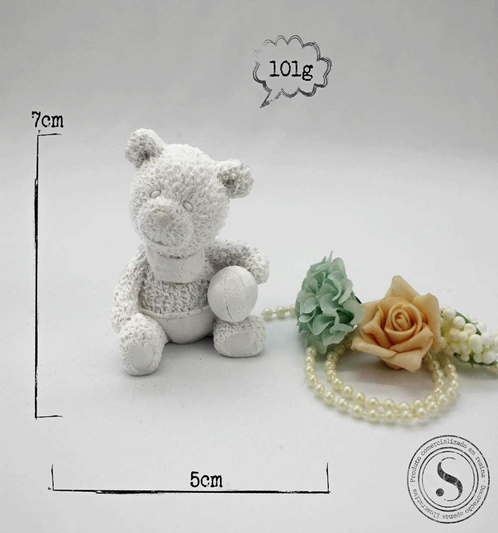 Aplique Resina Urso - UR 018 - Sandra Gotardo