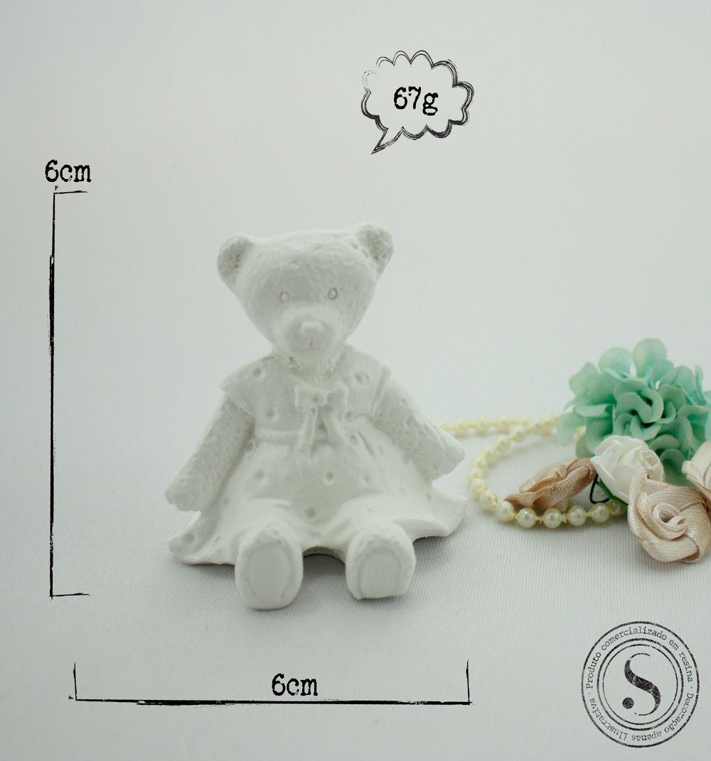Aplique Resina Urso - UR018 - Sandra Gotardo