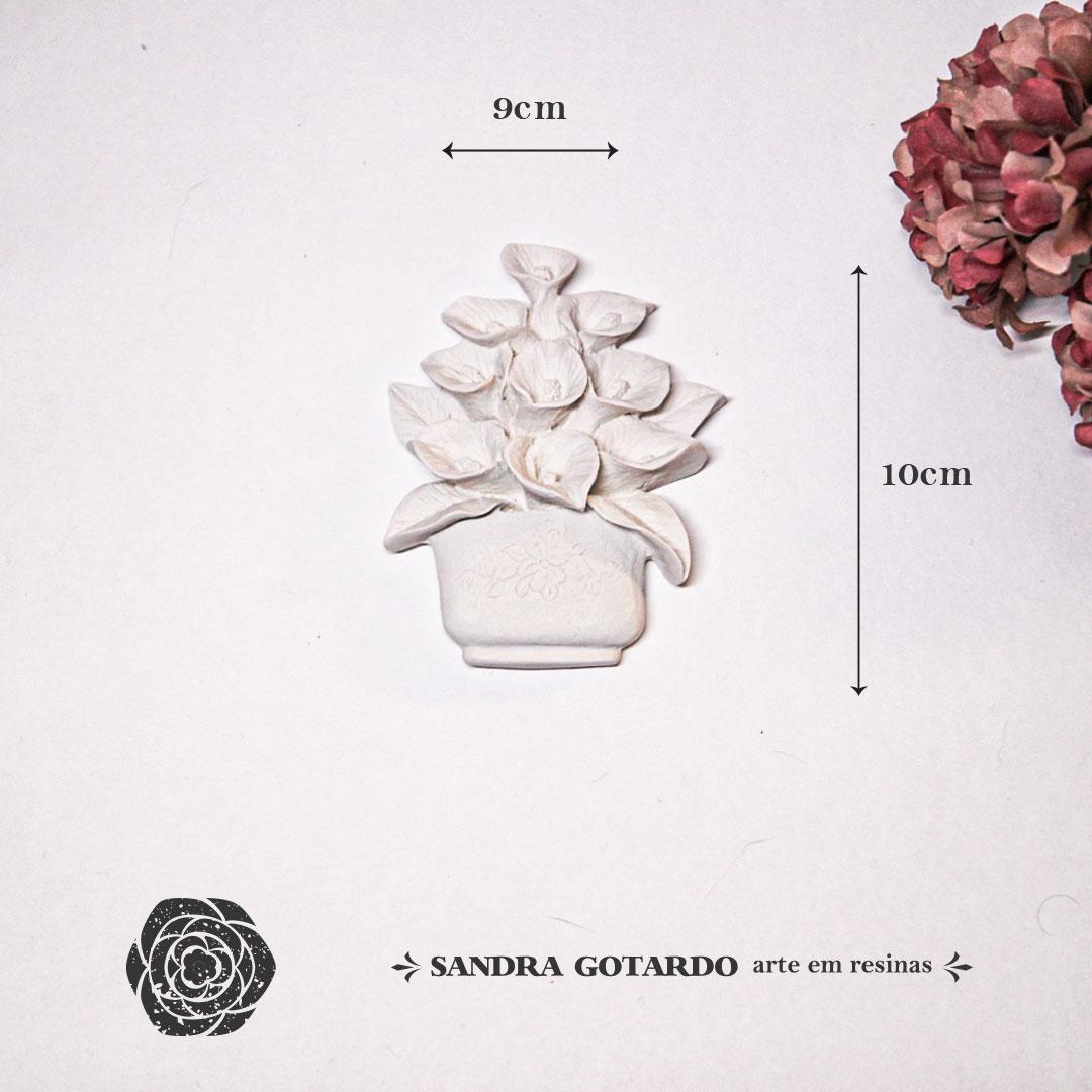 Aplique Resina Vaso de Flores -FO014-Sandra Gotardo