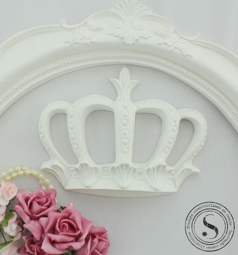 Aplique Coroa Princesa Grande (12x9) SG Resinas Ref CVA001