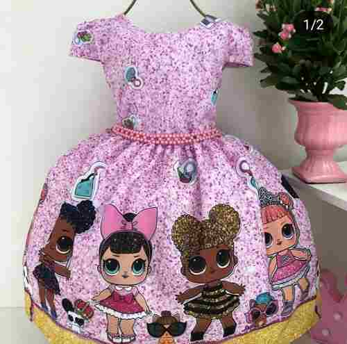 0d48979d99 Vestido de Festa Infantil Boneca LoL Surprise in 2019 dresses