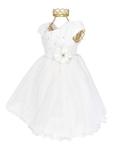 af53af0d8b ... Vestido Branco Luxo Batizado Festa Bebê Casamento Pmg P699 ...