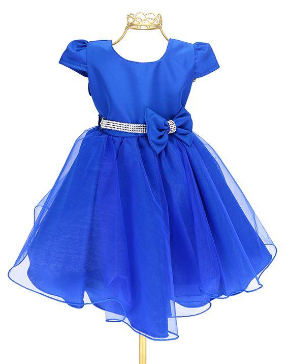 Vestidos de festa infantil azul royal