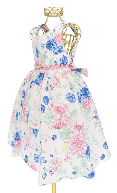 b1239435766 ... Vestido Festa Infantil Floral Alegre Colorido Cinto 1-4 P112 ...