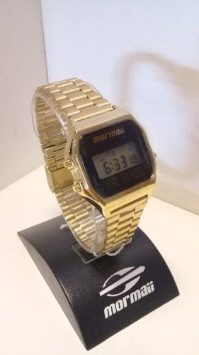Relógio Mormaii Vintage Dourado