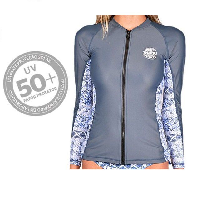 2228c63c0a Camiseta de Lycra Rip Curl Chicama Zip Feminina - Marivan Surf e ...