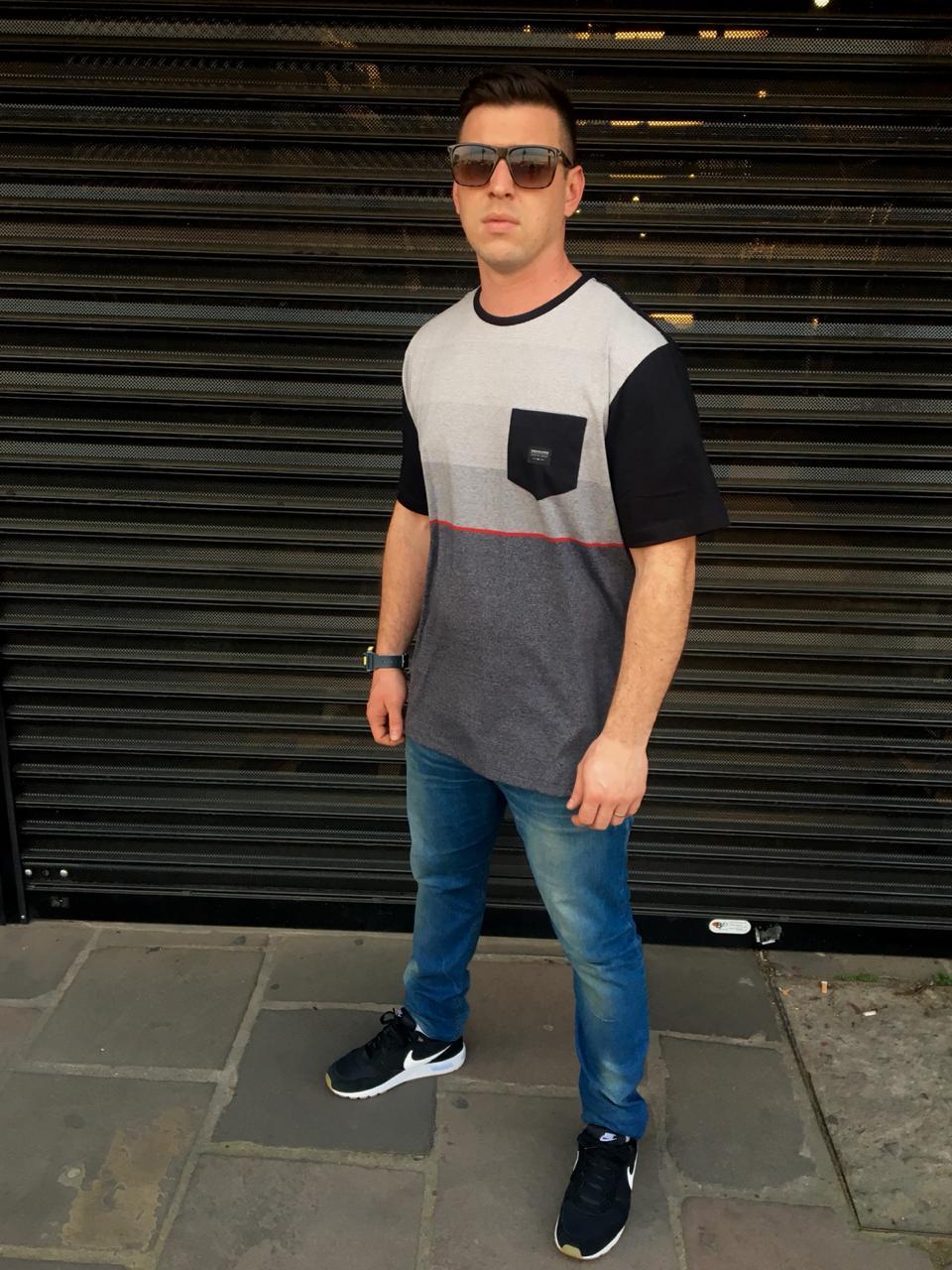 Camiseta Quiksilver Especial Single Stripe