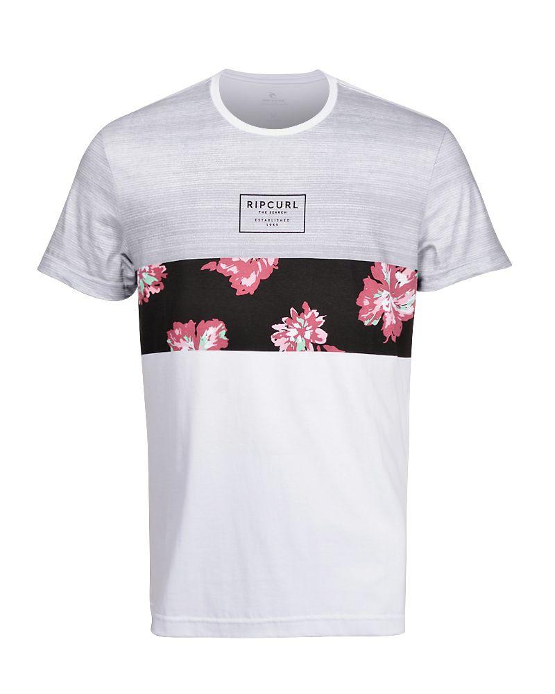 Camiseta Rip Curl Flower Cut Branca