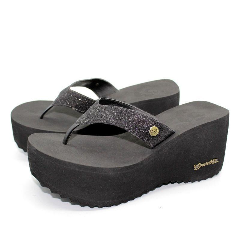 Chinelo Barth Shoes Sorvete Preto Gliter