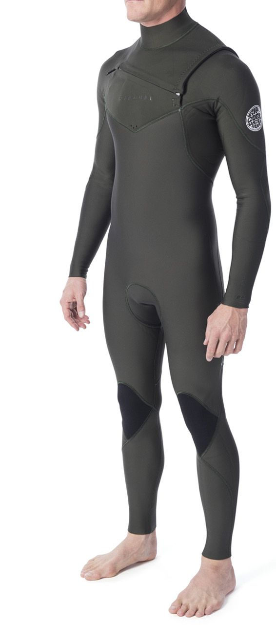 Long John Rip Curl Patrol  E5 3.2mm Chest Zip Kaki