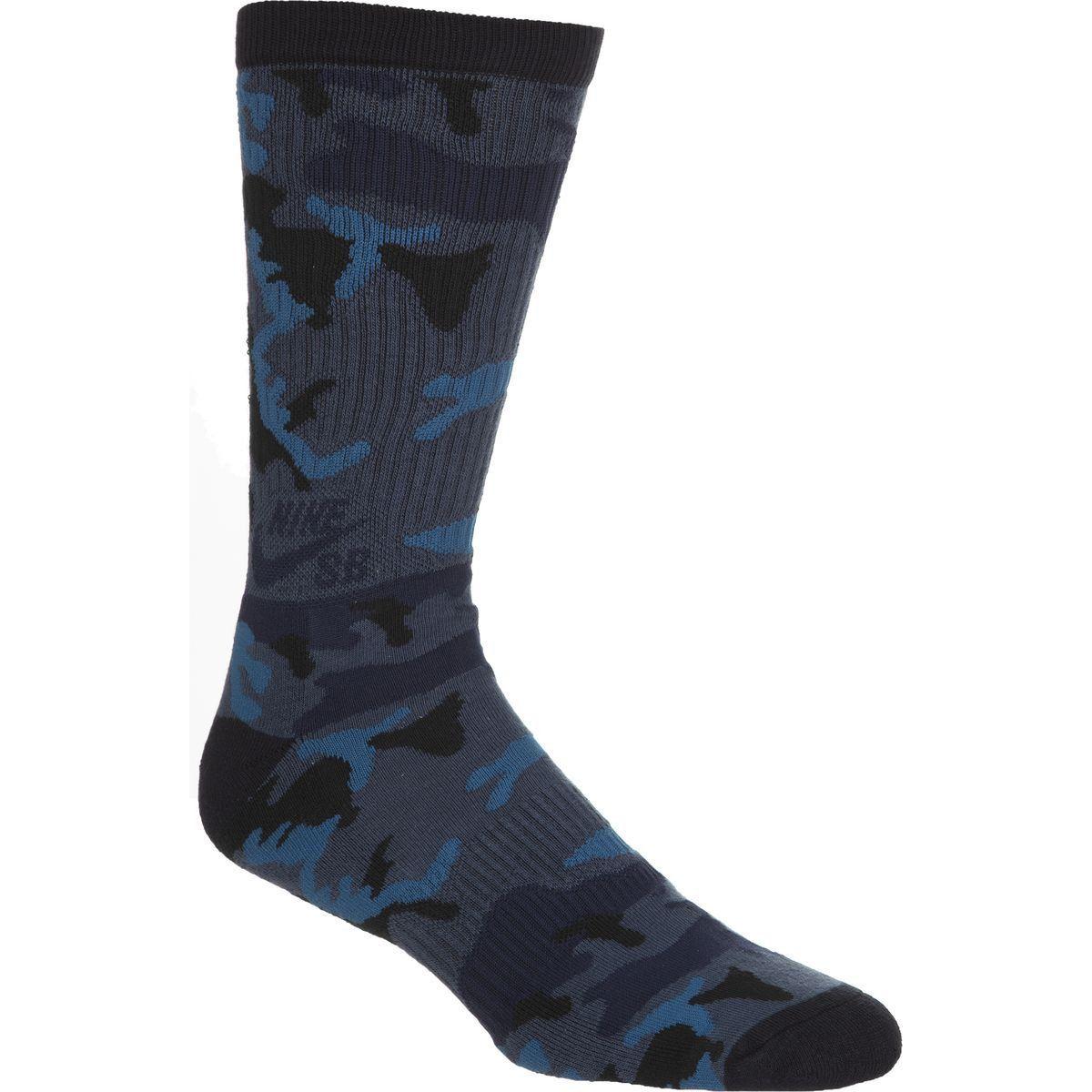 Meia Nike Skate Camuflada Azul