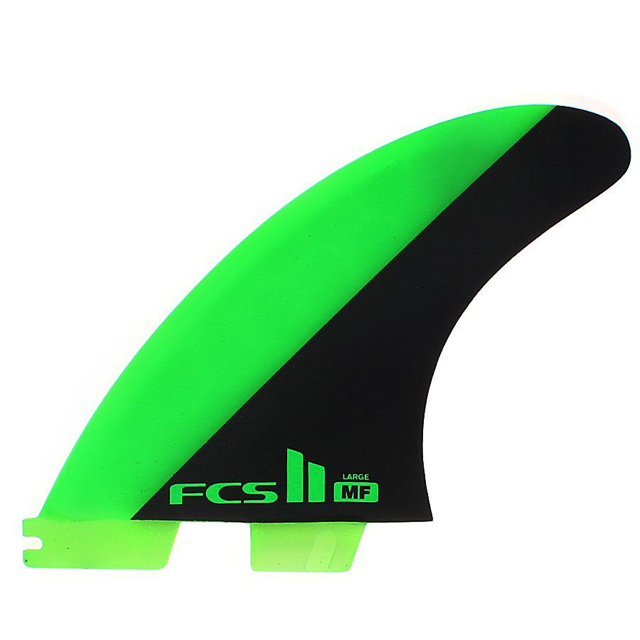 Quilha FCS 2 Mick Fanning Large Verde