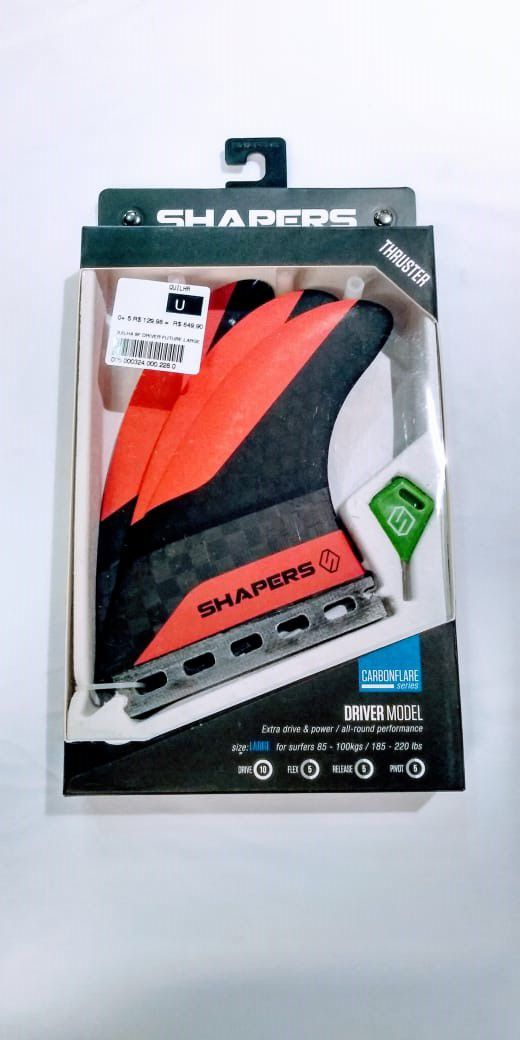 Quilha Shapers Fins Driver Large Future