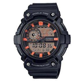Relógio Casio Analógico Digital  AEQ-200W-1A2VDF-SC Preto