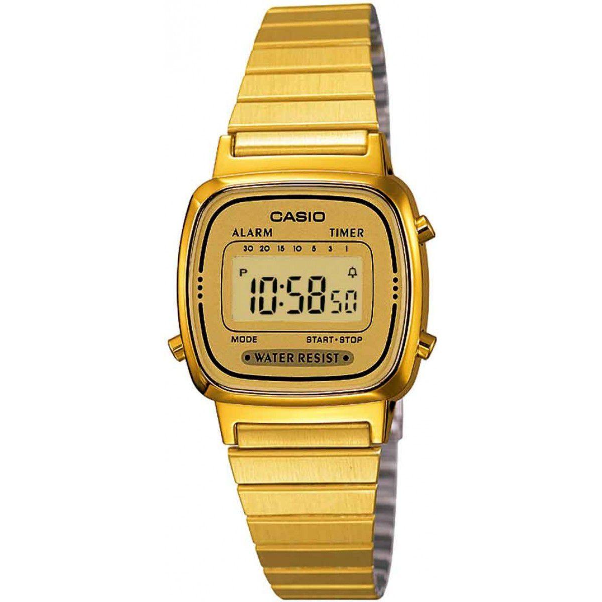Relógio Casio Vintage Dourado