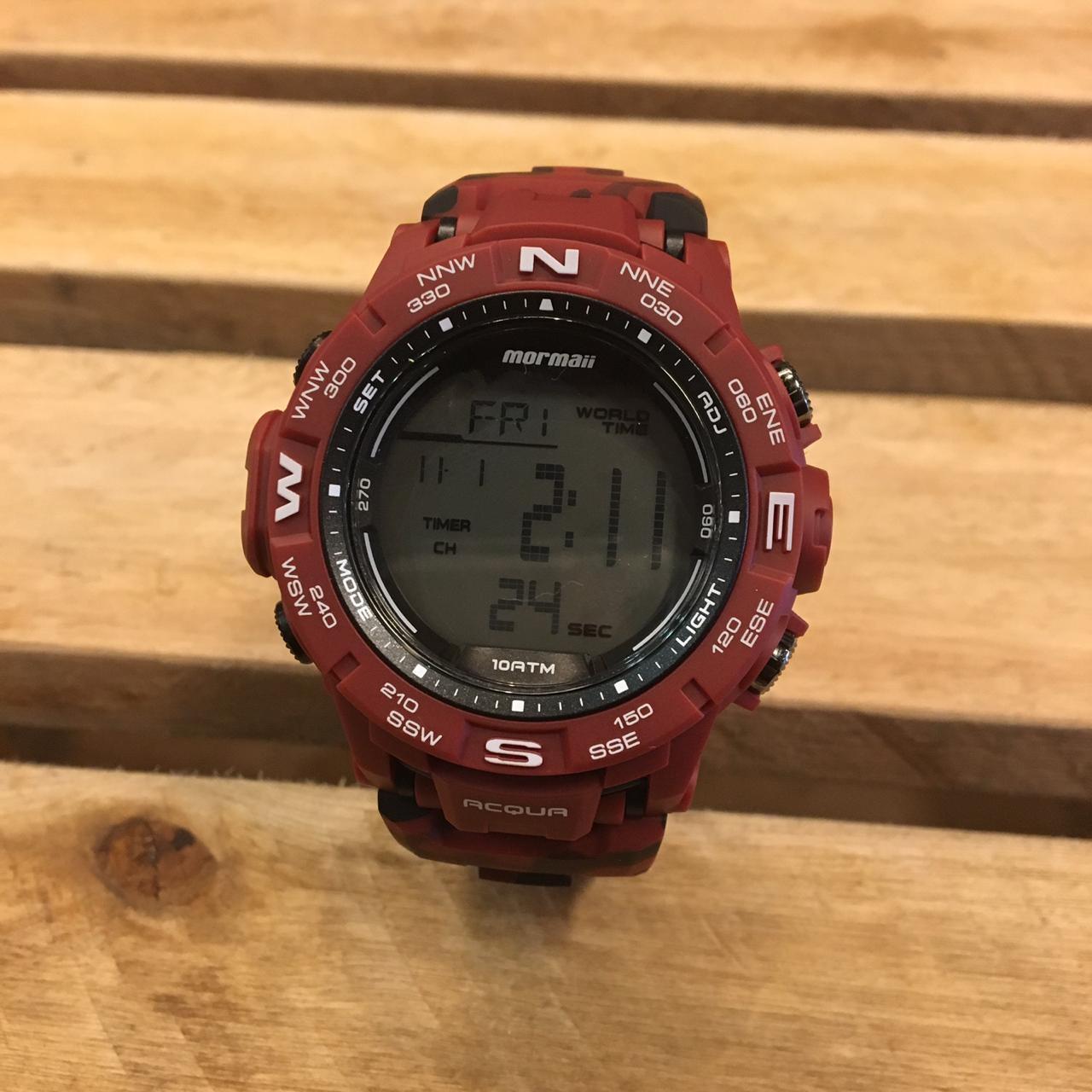 Relógio Mormaii Action MO1173A/8R Vermelho Camuflado