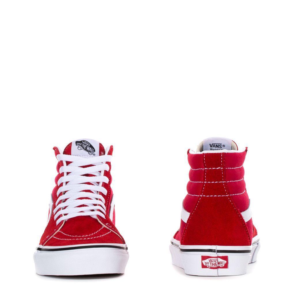 Tênis Vans SK8-HI Racing Red True White
