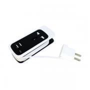 Adaptador Versátil Extensão Dual Usb Universal Socket 3 Em 1