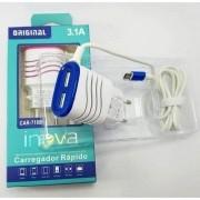 CARREGADOR COMPLETO RÁPIDO INOVA 2.1A IPHONE