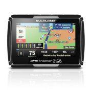 GPS Moto com Suporte Multilaser Tracker GP040 2 4,3 Pol Alerta Radar Bluetooth Resistente Água
