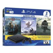 Playstation 4 Slim - 1 Tb + 3 Jogos (God of War + Horizon Zero Dawn + Shadow of Colossus)