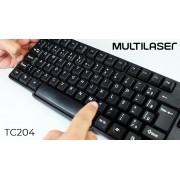 TECLADO MULTILASER SLIM TC204