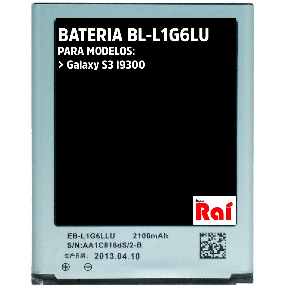 BATERIA CELULAR SAMSUNG EB-L1G6LLU (S3)