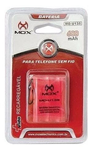 BATERIA P/ TELEFONE SEM FIO MOX 600MAH MO-U135