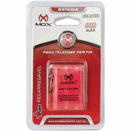 Bateria Para Telefone Sem Fio Mox 600mAh