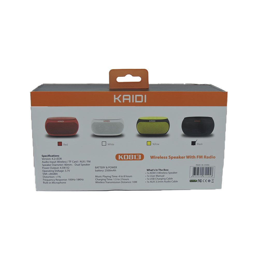 Caixa De Som Portátil Kaidi KD813 Wireless Speaker