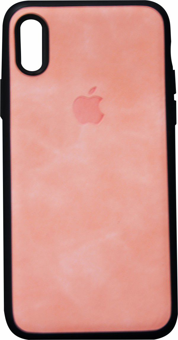 Capa para iPhone X XS couro rosa