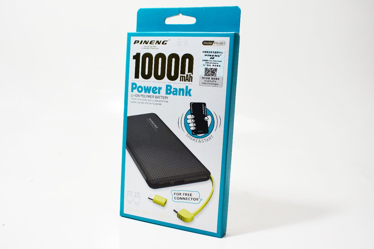 Carregador Portátil Power Bank Pineng Original 10000 mAh