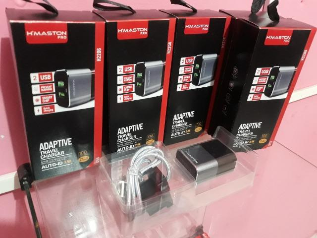 Carregador Travel Charger Audid 2usb 2.4a Cabo Android H2206