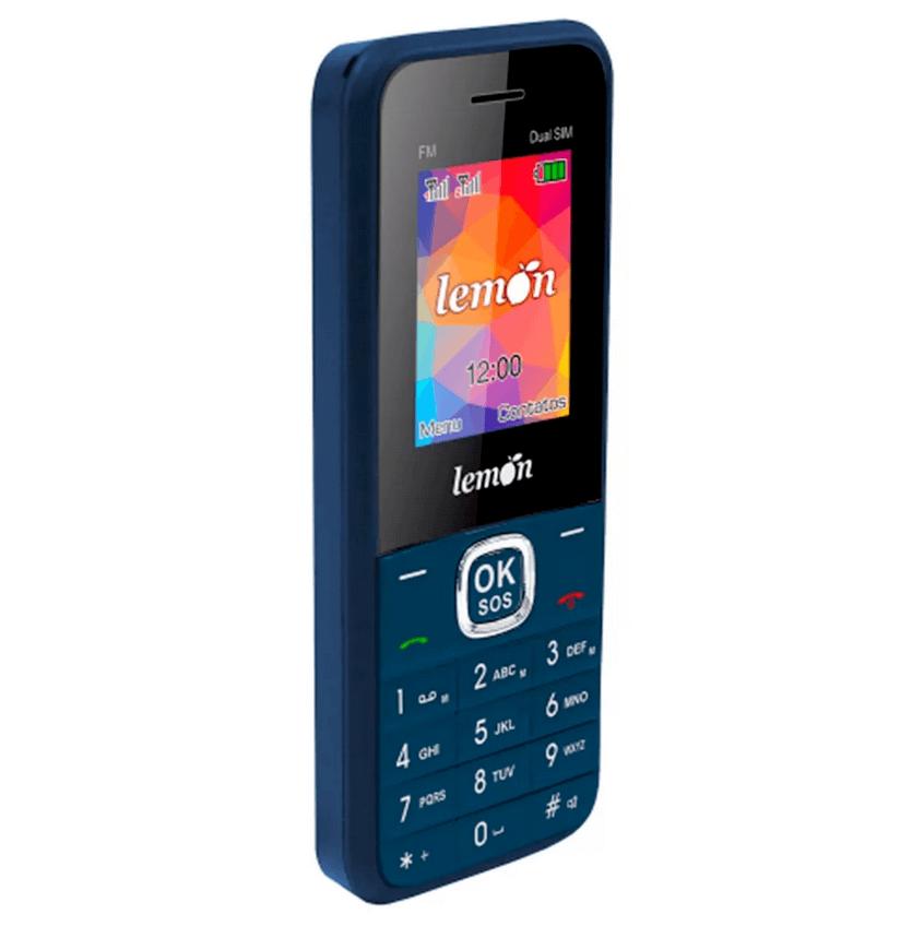 Telefone Para Idoso Lemon Sensi 8 Teclas Que Falam E Sos Azul