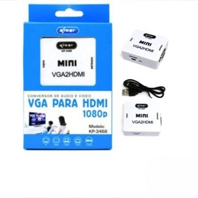 CONVERSOR DE AUDIO VGA PARA HDMI KNUP KP-3466