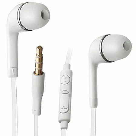 Fone Para Celular 3.5mm Headset Fone De Ouvido Branco