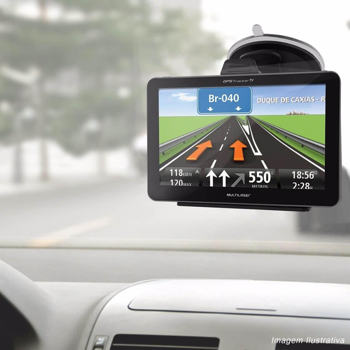 Gps Automotivo Multilaser Tracker GP035 4,3 Tv Alerta Radar