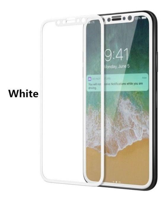 Pelicula 3D Para iPhone X / XS / 11 PRO  5.1 Frontal Branca