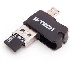 PEN DRIVE 3 EM 1 OTG U-TECH 8 GGB
